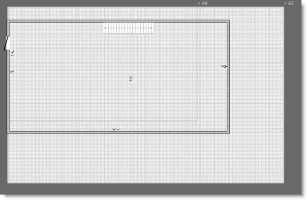 Maxi-kamer, groter dan aangegeven door de A4 suggestielijnen