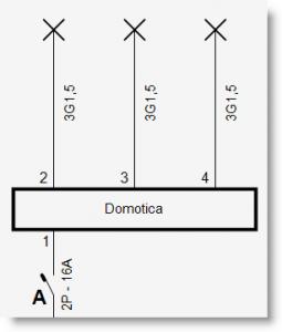 Trikker - Nummeren uitgangen domoticamodule op eendraadschema - 1