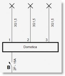 Trikker - Nummeren uitgangen domoticamodule op eendraadschema - 2