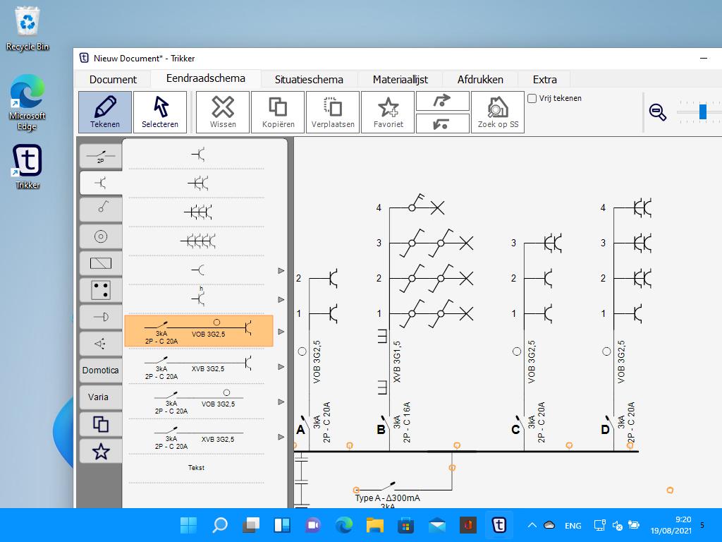 Screenshot van Trikker op Windows 11